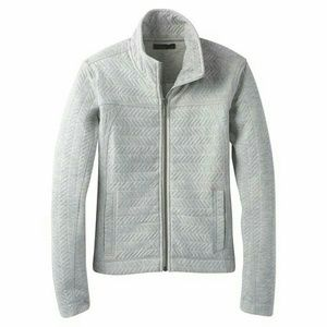 Prana Hadley grey quilted full zip jacket XL